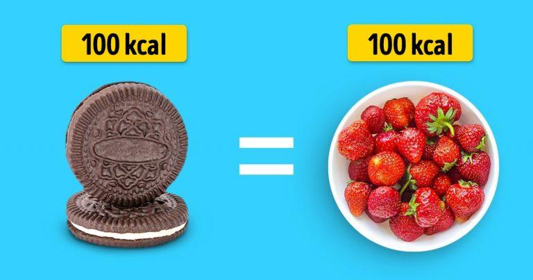 Így néz ki 100 kalóriányi mennyiség a kedvenc élelmiszereinkből